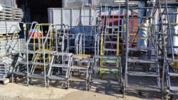 used warehouse ladders, rolling ladder, material handling used, step ladder, louisville, kentucky, indiana