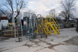 warehouse ladders, crossover, material handling equipment, used warehouse supplies